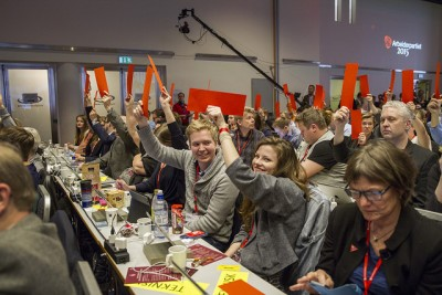 The Norwegian Labour Party remains Norway's largest, currently with around 38 percent of the vote. It lost government power in 2013, though, and will fight to get it back. PHOTO: Arbeiderpartiet