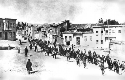 As many as 1.5 million Armenians were killed during World War I, many during forced marches to prisons or deportation like this one. On Friday, another march was due to take place in Oslo, organized by Armenians calling on Norway to recognize what they claim was genocide. PHOTO: Wikipedia