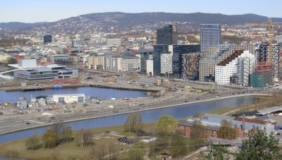 Tunnel rehabilitation and construction projects in Oslo, especially here in the Bjørvika area, will disrupt traffic for at least the next five years. PHOTO: newsinenglish.no