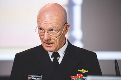 Admiral Haakon Bruun-Hanssen, Norway's Chief of Defense, made it clear this week that Norway still needs a strong defense, 75 years after it was invaded by Nazi Germany. PHOTO; Mats Grimsæth/Forsvarets Mediesenter