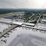 Oslo's main airport at Gardermoen has been under construction in connection with a major expansion project. It will continue, but other airport expansion plans may be grounded because of lower passenger numbers. PHOTO: Nordic Office of Architecture