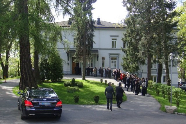 Russian Embassy reception