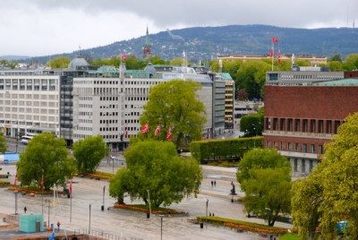 Flags were flying over Oslo and the rest of Norway on the country's national day, the 17th of May, on Sunday. PHOTO: newsinenglish.no