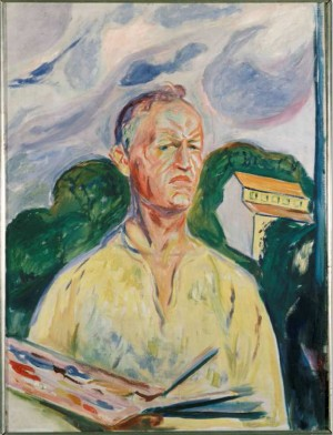 One of Edvard Munch's own self-portraits will also be featured in the exhibit, which pairs Munch and Van Gogh for the first time. PHOTO: Munch Museet