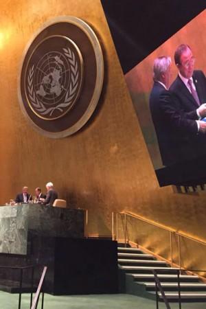 DNV-GL's Henrik  O Madsen at the UN last week. PHOTO: DNV-GL