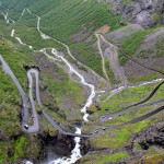"""Norway's challenging mountain road called """"Trollstigen"""" best known for its challenging hairpin turns. PHOTO: Wikipedia Commons"""