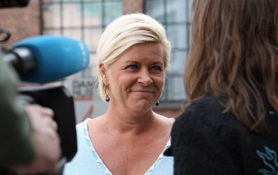 Siv Jensen was back in the media glare on Monday after some controversial remarks in a campaign speech over the weekend. PHOTO: Fremskrittspartiet