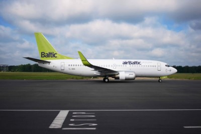 Am airBaltic Boeing 737 like this one was seriously delayed in Oslo after its flight crew was arrested for being under the influence of alcohol. PHOTO: airBaltic
