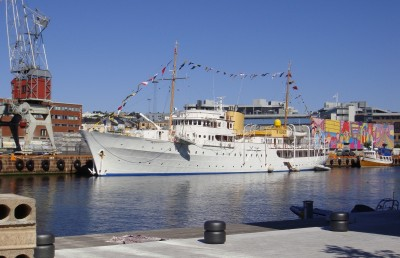Not included, for example, are the costs of maintaining the royal yacht Norge, estimated at NOK 45 million a year. PHOTO: newsinenglish.no