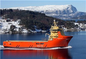 "Until June, the ""Siem Pilot"" was an offshore supply ship and pipe carrier geared for work in the North Sea. The vessel, built to accommodate 64 crew members, is also decribed as having ""huge flexibility"" regarding its scope for work, and now it's being used to rescue migrants and refugees adrift in the Mediterranean. PHOTO: Siem Offshore"
