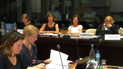 """Government minister Solveig Horne of the Progress Party was questioned about Norway's measures against hate crimes at the UN in Geneva on Tuesday. She thinks she answered the questions well and received """"constructive"""" feedback. PHOTO: Barne-, likestillings og inkluderingsdepartementet"""
