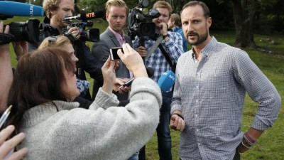 "Crown Prince Haakon was back in the media glare on Monday, and still refused to reveal who paid for his family's summer holiday on board a luxury yacht. He would only say they were invited by ""a friend,"" who's also a part-owner of the vessel. PHOTO: kongehuset.no"