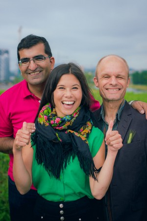 This trio of politicians from the victorious Greens Party will play a major role in determining how Oslo is governed over the next four years. From left: Shoaib Sultan, the Greens' candidate for mayor; Lan Nguyen Berg and Harald August Nissen, who also were elected members of the city council. PHOTO: Miljøpartiet De Grønne