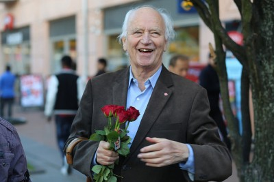 "Thorvald Stoltenberg was active in the recent local election campaign and said he was happy ""so many wanted me"" on the city council. PHOTO: Arbeiderpartiet"