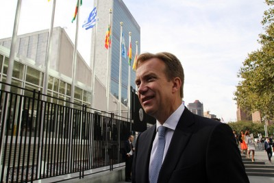 Foreign Minister Børge Brende has been active at the UN this fall, but faces criticism now for failing to go along with anti-nuclear resolutions this week. PHOTO: Utenriksdepartementet/Frode Overland Andersen