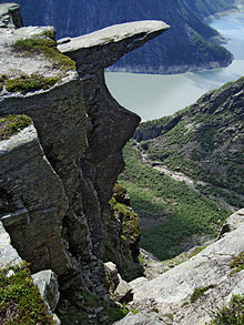 Trolltunga is spectacular but can also be dangerous. PHOTO: Wikipedia