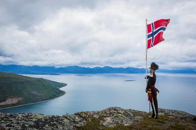 take atop Keipen, Harstad, August 2015