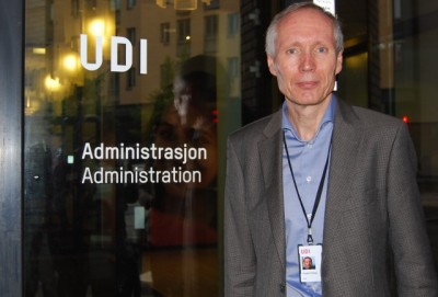 Frode Forfang, head of Norway's immigration agency UDI, now says at least 100,000 more asylum seekers probably will need to be accommodated next year. PHOTO: newsinenglish.no/Nina Berglund