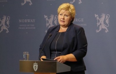 "Prime Minister Erna Solberg said Norway will not meet the ransom demands being made by ""cynical terrorists"" for the return of a Norwegian citizen in Syria. PHOTO: Statsministerens kontor"