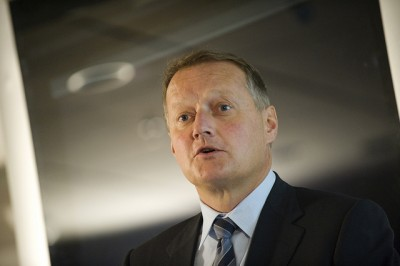Rune Bjerke, chief executive of Norway's biggest bank, remains cautiously optimistic and confident Norway's economy will withstand current challenges. PHOTO: DNB