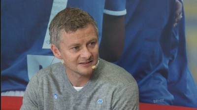 Ole Gunnar Solkjær was welcomed back to Molde on Wednesday. PHOTO: Molde FK