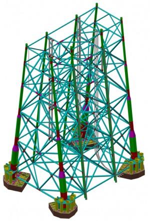 Here's Kværner's own drawing of the substructure. ILLUSTRATION: Kværner