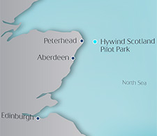 Statoil's new offshore floating wind park project will be the world's first, located in the North Sea around 25 kilometers off Peterhead, Scotland.