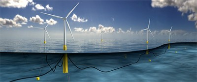 The Hywind Pilot Park is expected to generate enough wind energy to provide power for 20,000 households in Scotland. ILLUSTRATION: Statoil