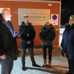 Prime Minister Erna Solberg, shown here (far right) at a new asylum center set up near the Norwegian border to Russia, has now issued new orders for stricter border control all over the country. PHOTO: Statsministerens kontor