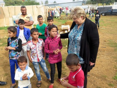 Prime Minister Erna Solberg said she was especially concerned about all the refugee children, who face an uncertain future in difficult circumstances. PHOTO: Statsministerens kontor