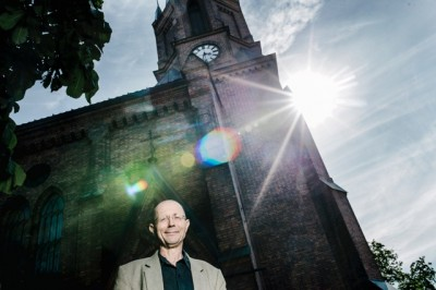 "Kjell Kristensen says he's a ""free thinker"" who believes that humans have created religions to serve their needs and suit their own purposes over the years. PHOTO: Fartein Rudjord"