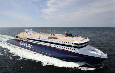 "Police say it's been difficult to carry out border control procedures on drunk passengers stumbling off ferries like Color Line's ""SuperSpeed2."" PHOTO: Wikipedia"