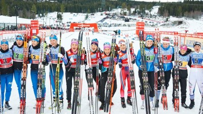 The Norwegian women also won their relay on Sunday, but allowed teams from Finland and the US to share some glory. Norwegian skiers are leading all World Cup competition to date, by a wide margin. PHOTO: World Cup Lillehammer/Facebook