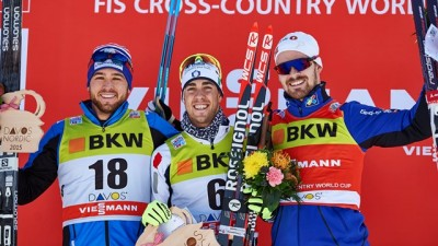 Frederico Pellegrino of Italy knocked the Norwegians out of the top spot on the winners' podium in Davos on Sunday, for the first time this season. Swedish skier Stina Nilsson also won the women's sprint, and Norwegians claimed they were glad other countries were winning for a change. PHOTO: International Ski Federation