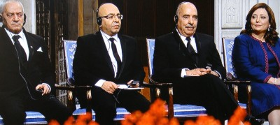 And the Quartet from Tunisia looked back, with each of its representatives later expressing pride and gratitude that their efforts were being internationally recognized. PHOTO: NRK screen grab/newsinenglish.no