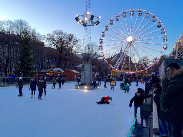 Christmas, markets, ice skating