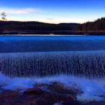 Blue winter weather