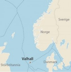 The Valhall oil field is located in the southernmost portion of the Norwegian sector of the North Sea, not far from the Ekofisk field. PHOTO: Norsk Olje Museum