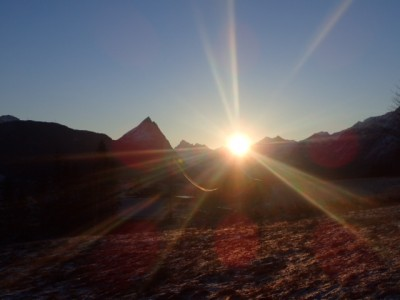 The sun has been making its return in Northern Norway, also over the high mountains and into the deep values of southern Norway, like here in Sykkelven. PHOTO: John Palmer