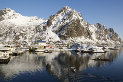 Every municipality on Lofoten, including here at Svolvær, has now voted against developing oil fields offshore. Two of Norway's three northern chapters of the Labour Party did the same over the weekend. PHOTO: newsinenglish.no