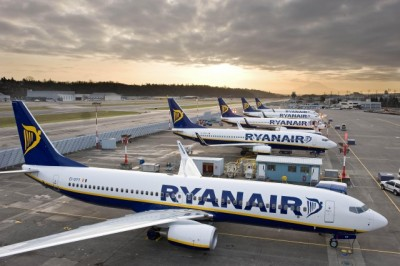 Ryanair has been among the most vocal opponents of the government's hotly disputed airline seat tax. Now the tax has at least been postponed, until June 1. PHOTO: Ryanair