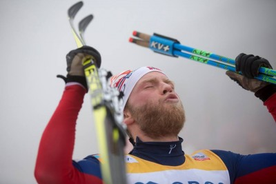 Martin Johnsrud Sundby achieved a childhood dream when he won the men's 50-kilometer race at home in Oslo on Saturday. It was his latest in a long string of World Cup victories, but meant the most to him. PHOTO: Holmenkollen Ski Festival/Magnus Nylokken