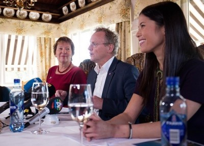 Lan Marie Nguyen Berg of the Greens Party (right), Raymond Johanssen of the Labour Party and Marianne Borgen of the Socialist Left party have quickly been imposing new regulations that are angering drivers in Oslo. PHOTO: Miljøpartiet De Grønne