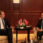 Jan 12, 2016, foreign ministers Børge Brende and Mevlut Cavusoglu