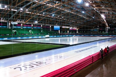 Athletes taking part in the Youth Olympic Games will be using many of the facilities built for the Winter Olympics in 2004, including the Hamar Olympic Hall Viking Ship for speed skating. PHOTO: Lillehammer2016