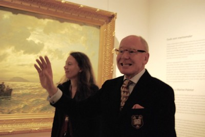 The new exhibit is the last to be mounted by Senior Curator Frode Haverkamp, who's a Gude scholar himself. He's retiring at age 69 after a long career as an art historian, here with project leader Rikke Lundgreen. PHOTO: newsinenglish.no