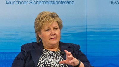 Prime Minister Erna Solberg, shown here at a security conference in Munich earlier this year, wrote that the attack on Nice this week carried reminders of the attacks in Oslo five years ago next week. PHOTO: MSC/Zwez