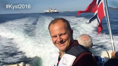 Transport Minister Ketil Solvik-Olsen plans to travel along the Norwegian coast this summer by a variety of means. PHOTO: Samferdselsdepartementet/Susanne Stephansen