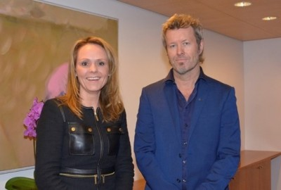 Norway's government minister for cultural affairs, Linda Hofstad Helleland, claimed that Magne Furuholmen has the artistic talent, network and experience to strengthen the Bergen International Festival. PHOTO: Kulturdepartementet