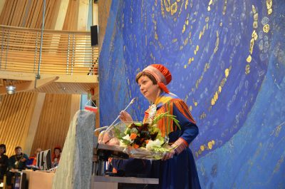 Larsen, of the Labour Party, had held the recent New Year speeches in fluent Sami, like all other presidents before her. Keskitalo, however, was forced to step down after a lack of confidence vote over the budget. PHOTO: Sametinget